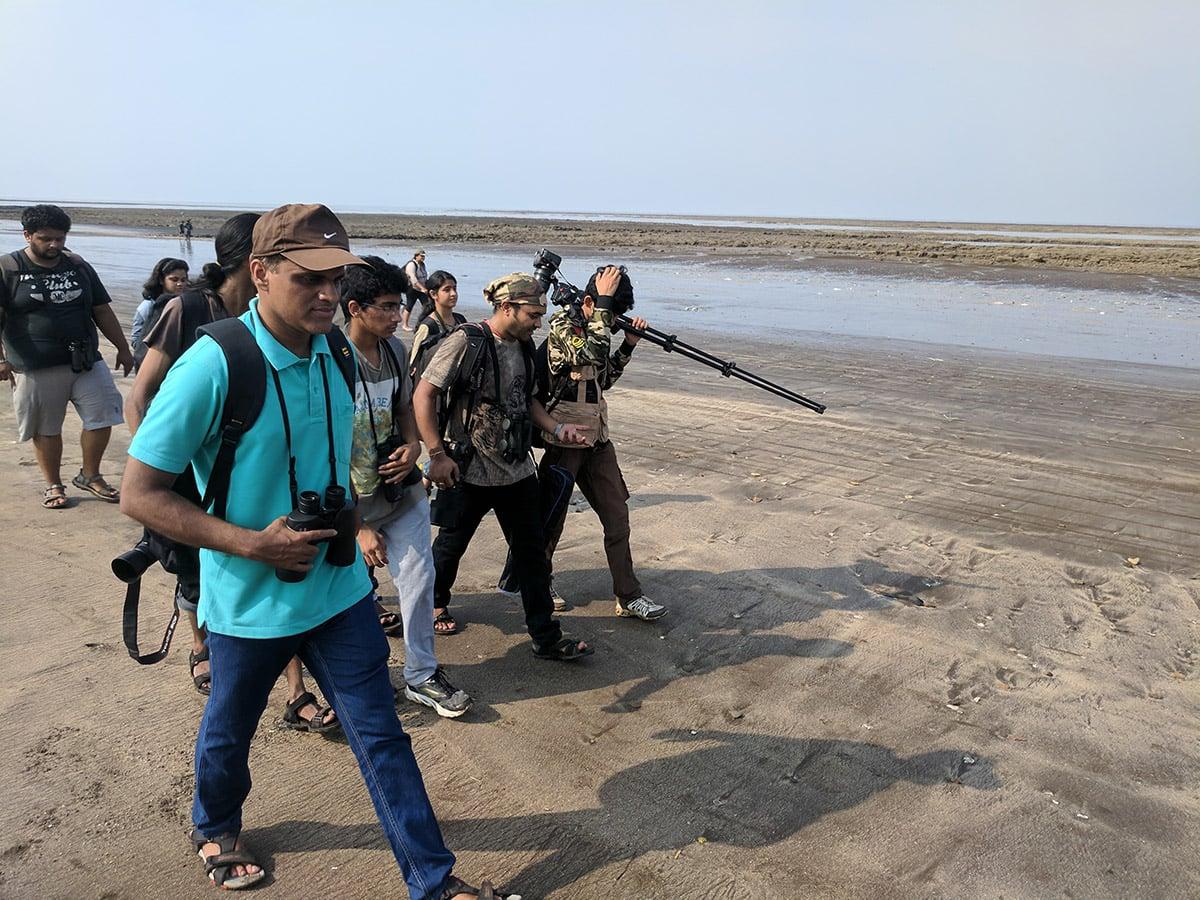 Varun and birders beach